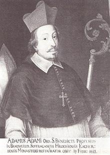 Adam Adami als Verwalter des Hochstifts Hildesheim; Porträt in der Dombibliothek Hildesheim