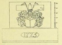 Wappen über der Gartentür Pfaffenstieg Nr. 2