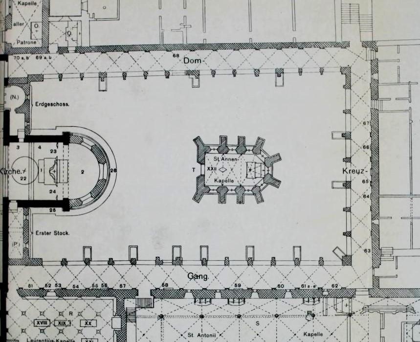 Plan des Kreuzgangs