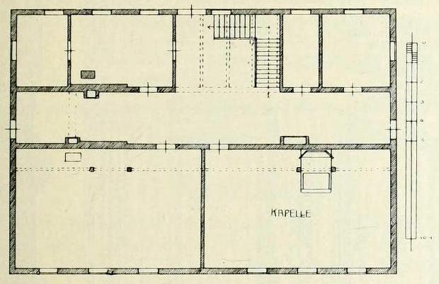 Bild 3:  Grundriß des Hinterhauses
