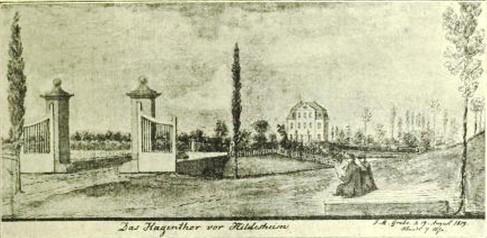 Das Hagentor Anfang XIX. Jahrhunderts