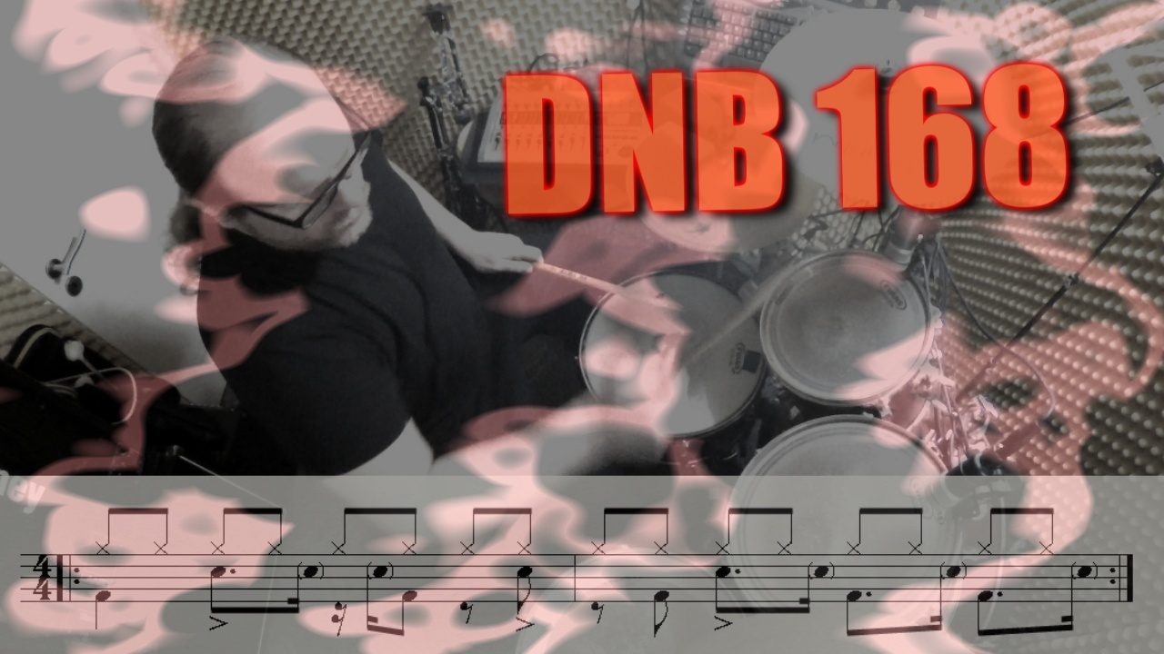 DNB 168 Drum Set Groove - watch & learn