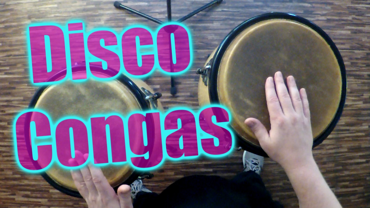 simple congas disco groove watch and learn