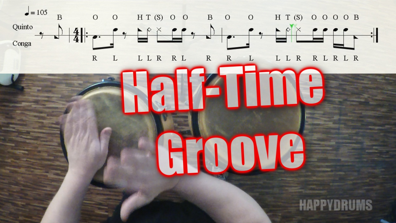 Half-Time Groove | Congas - watch & learn