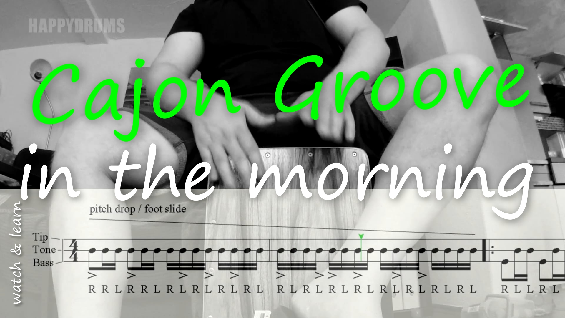 cajon groove in the morning
