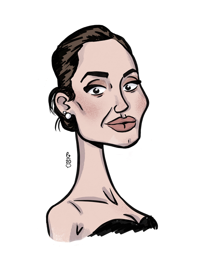 Karikatur Cartoon Stil – Angelina Jolie