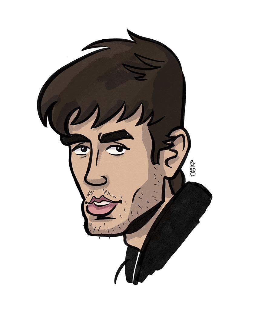 Karikatur Cartoon Stil – Enrique Iglesias