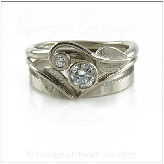 Leafy Wedding Rings
