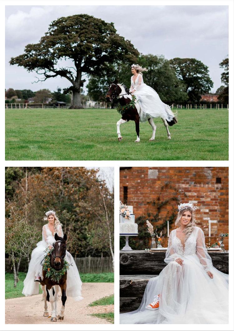New Forest Wedding Shoot at Warborne Farm Horseback