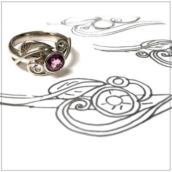 Alternative, elvish engagement ring