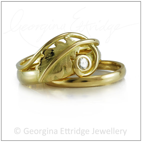 Quercus Wedding Ring inspired by nature
