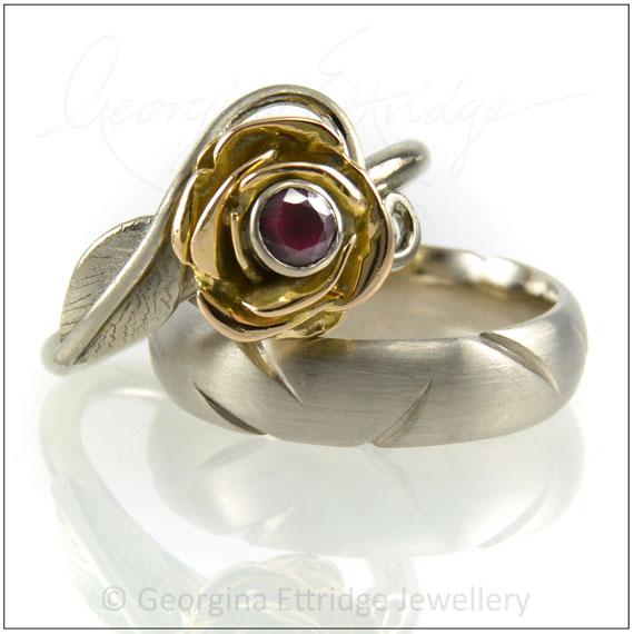 Rose & Thorns Engagement & Wedding Ring