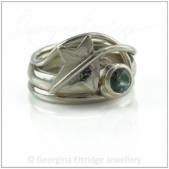 Organic inspired engagement ring