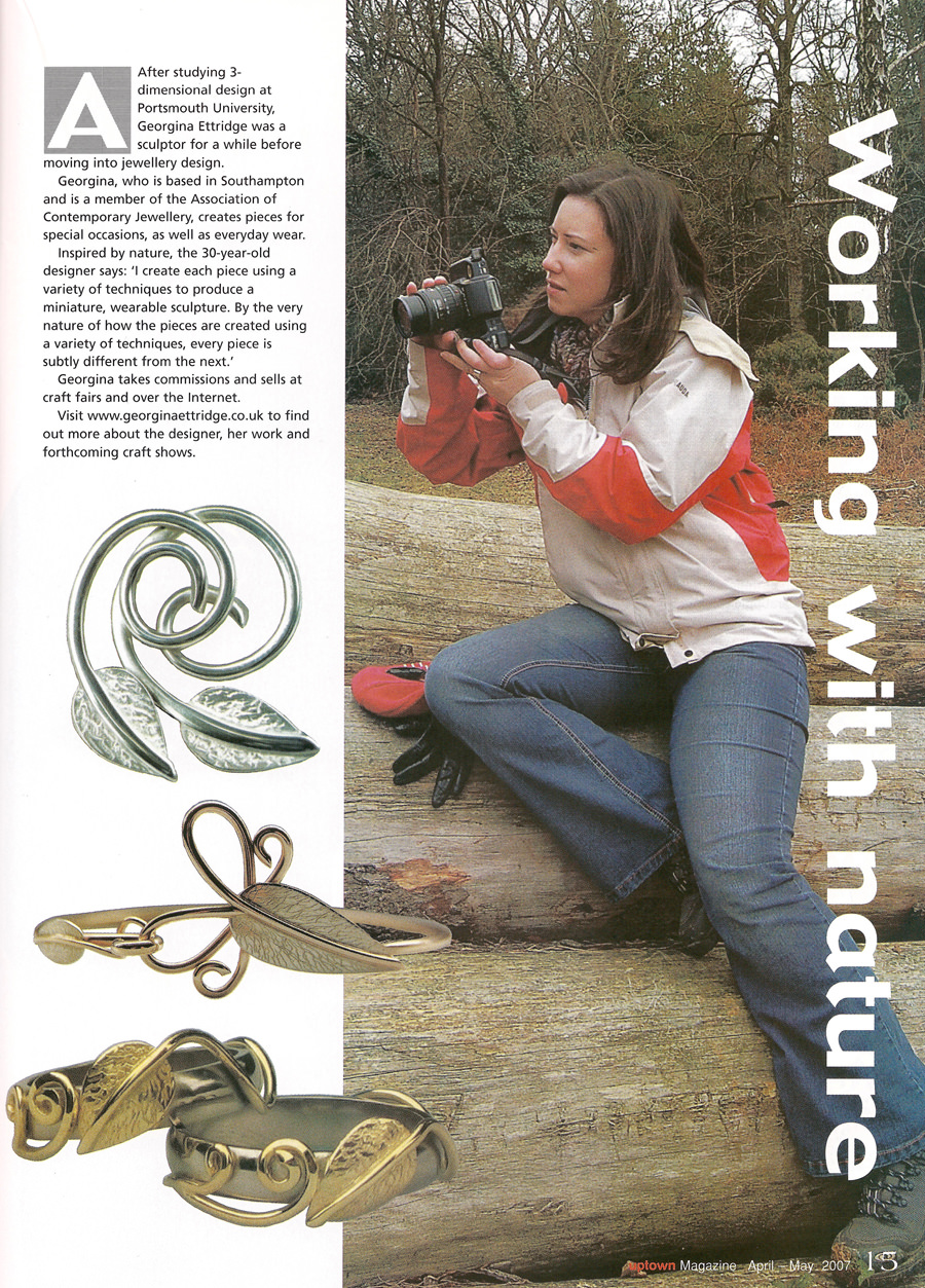 Portsmouth News 'Uptown Magazine' Georgina Ettridge Press Article