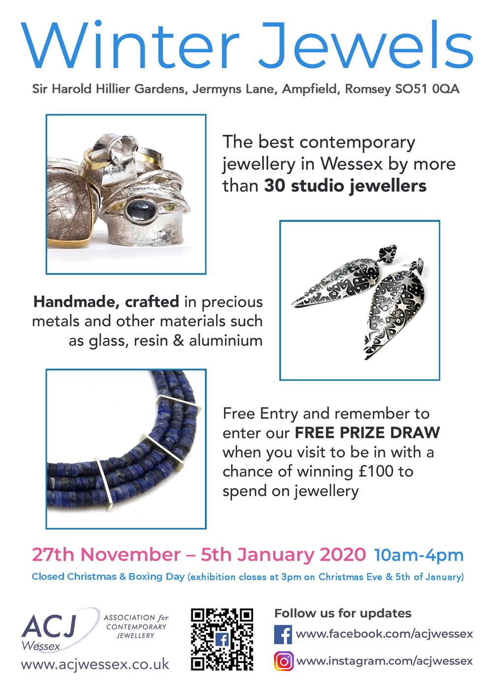 Winter Jewels Jewellery Exhibition Flyer 2
