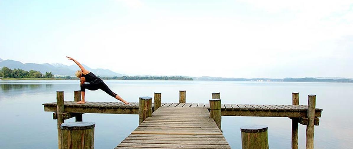 Yoga am See? Jeden Samstag mit Gabi Junklewitz oder auf eigene Faust.