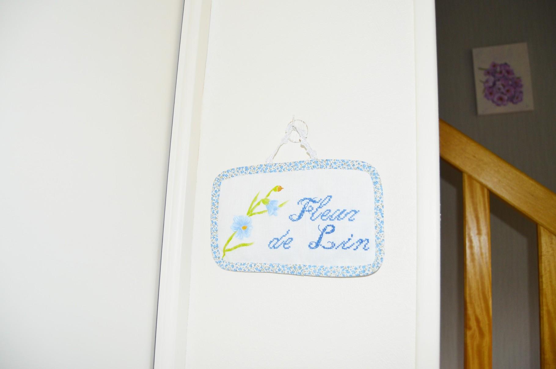 Détail entrée chambre Fleur de lin