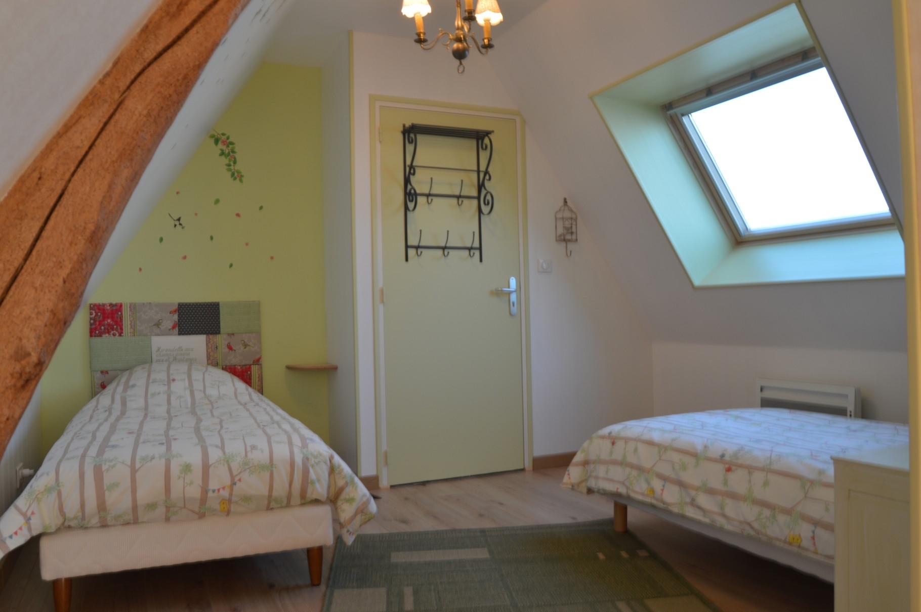 La première chambre à coucher aux couleurs du printemps