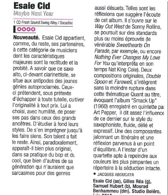 Chronique JAZZ MAGAZINE n°696 juillet 2017