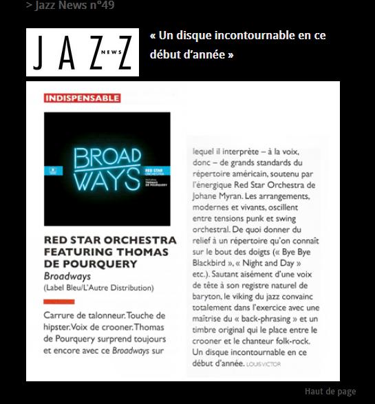 Jazz News février 2016