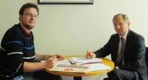 Stefan Maetz mit MdB Werner Schieder im Berliner Abgeordnetenbüro