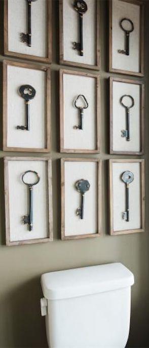 Collezione di chiavi in quadri identici