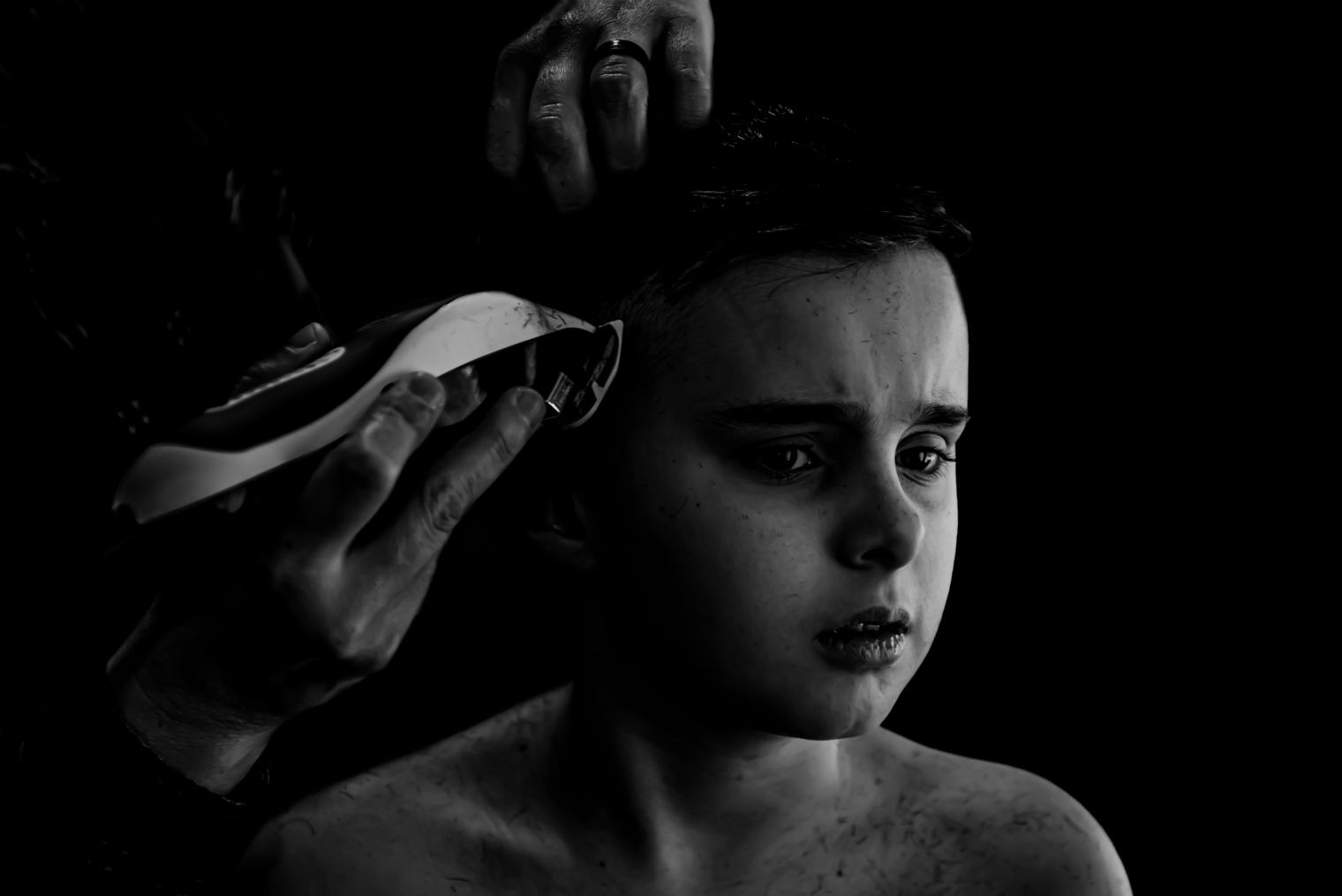 The story of a quarantine haircut from the perspective of a photographer's child in Ottawa Ontario