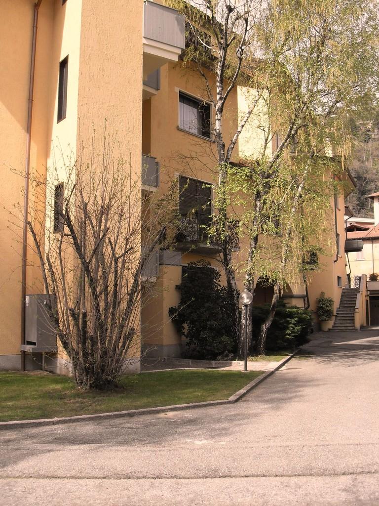 Lato nord del complesso residenziale