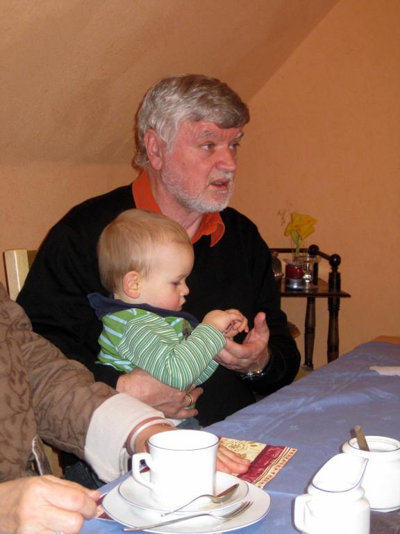 Franz und Großneffe Mika