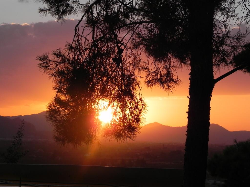 Sonnenuntergang - Blick von der Burg Denia