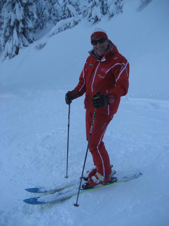 Skilehrerchef Fankhauser Josef bei der Abfahrt vom Penken