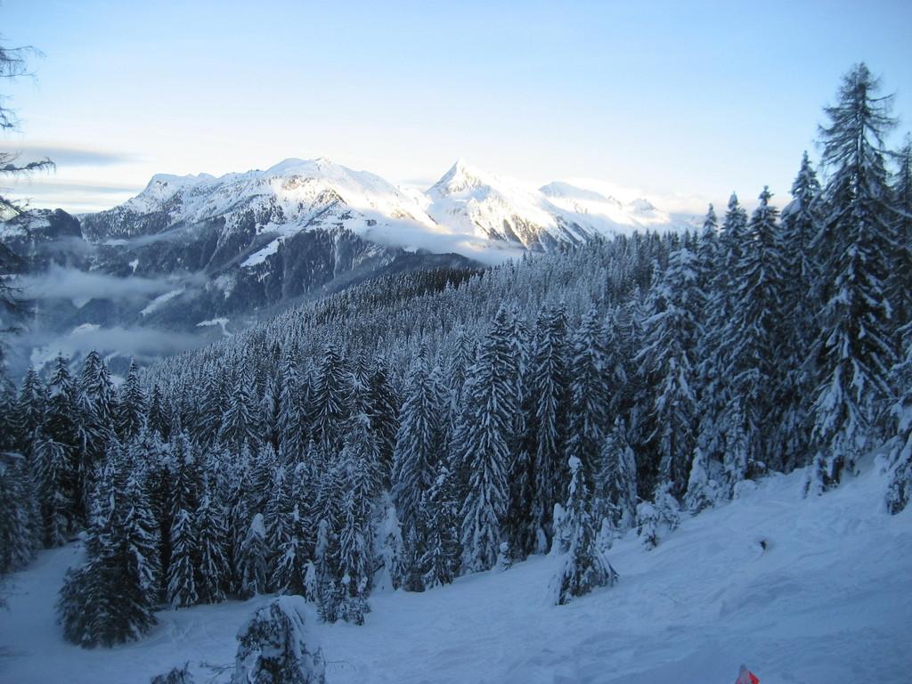 Winterlandschaft bei der Abfahrt vom Horberg