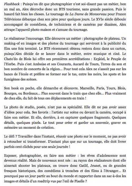 Article  DÉTOURAGES - Alex Pixelle - MEMOIRE VISUELLE - suite