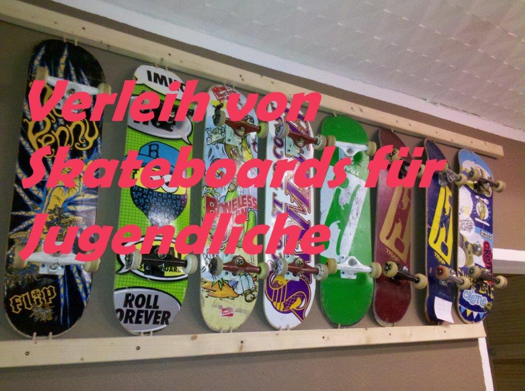 Skateboard-Verleih