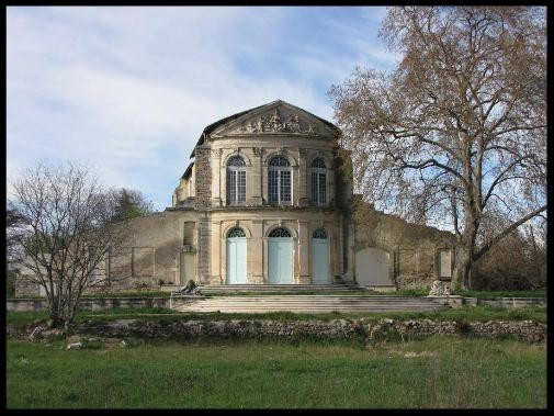Partie de la façade du château Bonnier de la Mosson