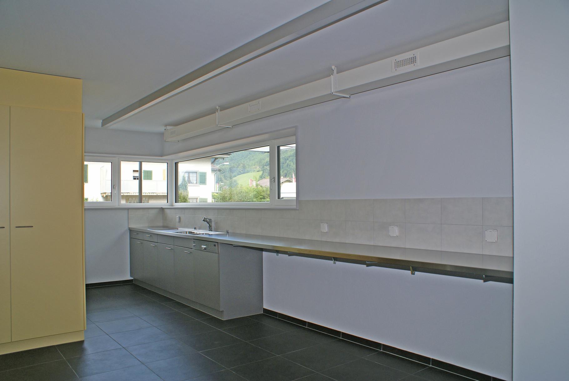 Office und Küche im Foyer