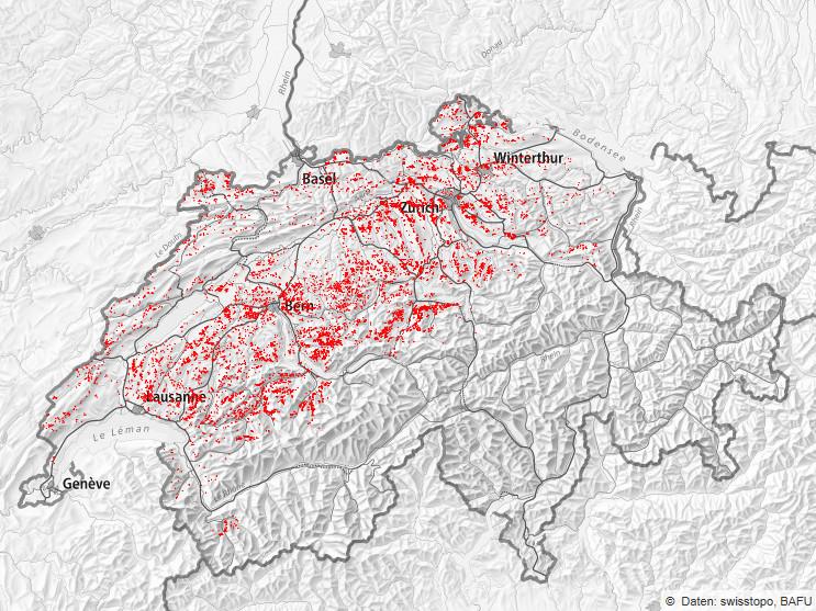 """Sturmschäden Lothar. Bild: Abteilung """"Wald und Naturgefahren des Kantons Glarus"""""""