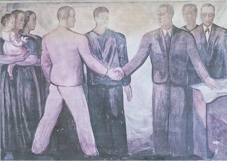Fresco von Karl Pflüger am Konsum