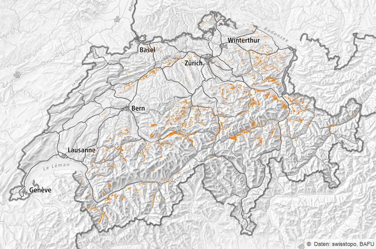 """Sturmschäden Vivian. Bild: Abteilung """"Wald und Naturgefahren des Kantons Glarus"""""""