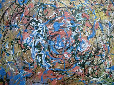 Acrílico sobre lienzo, obra propia