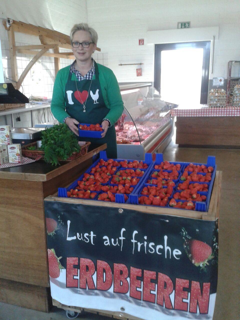 Leckere frische Erdbeeren