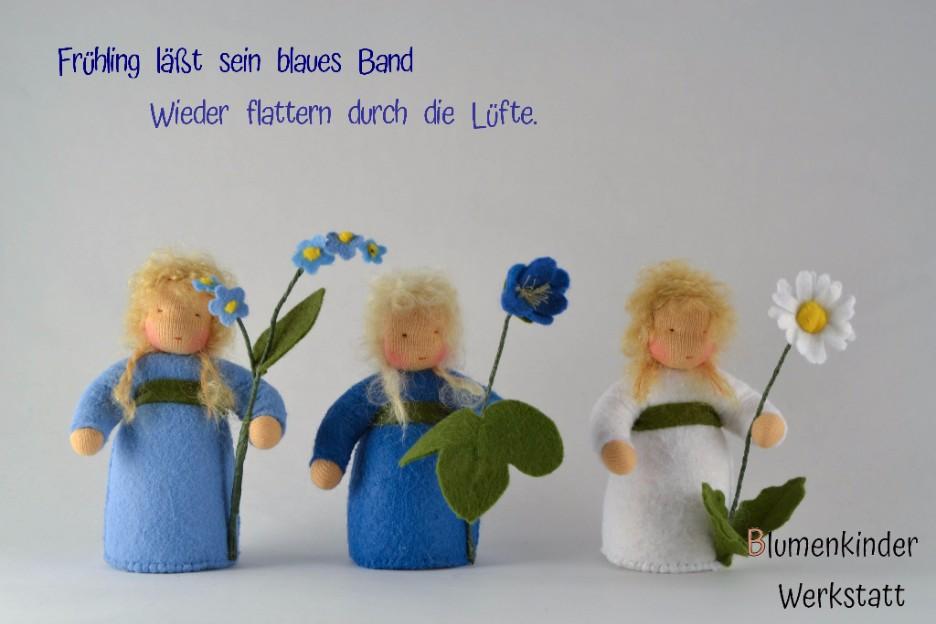Blumenkinderwerkstatt Frühling: Vergissmeinnicht Leberbl¨mchen Gänseblümchen