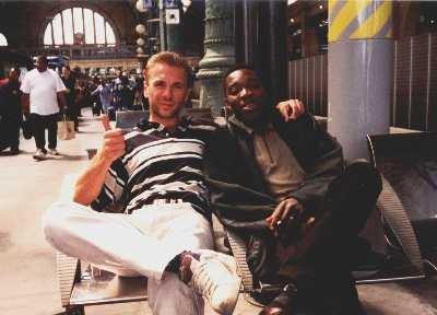 A la gare de l'est sur le départ, après une visite aux copains en France en 2001