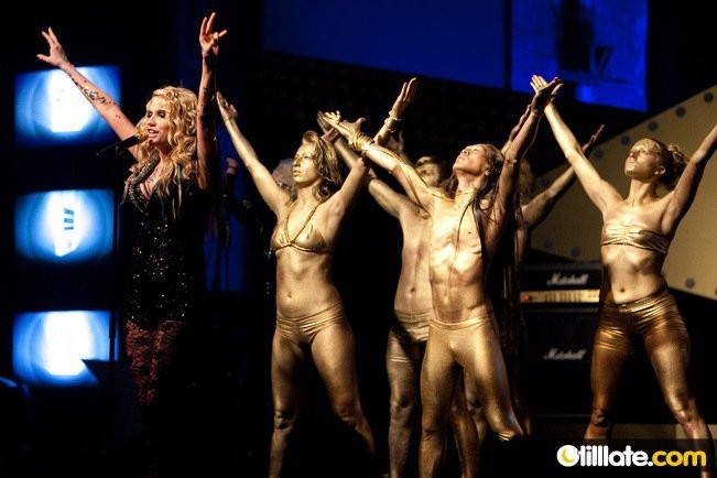 with KESHA at Swiss Music Awards 2010