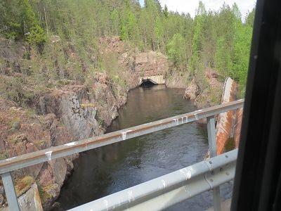 Fluß im Berg zum Stausee