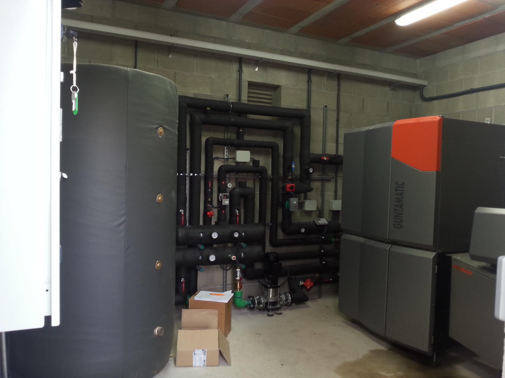 Sala calderes de biomassa