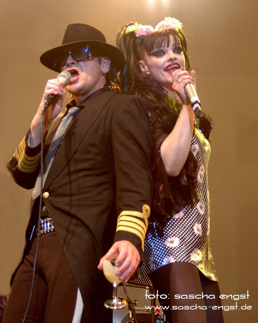 Udo Lindenberg mit Nina Hagen