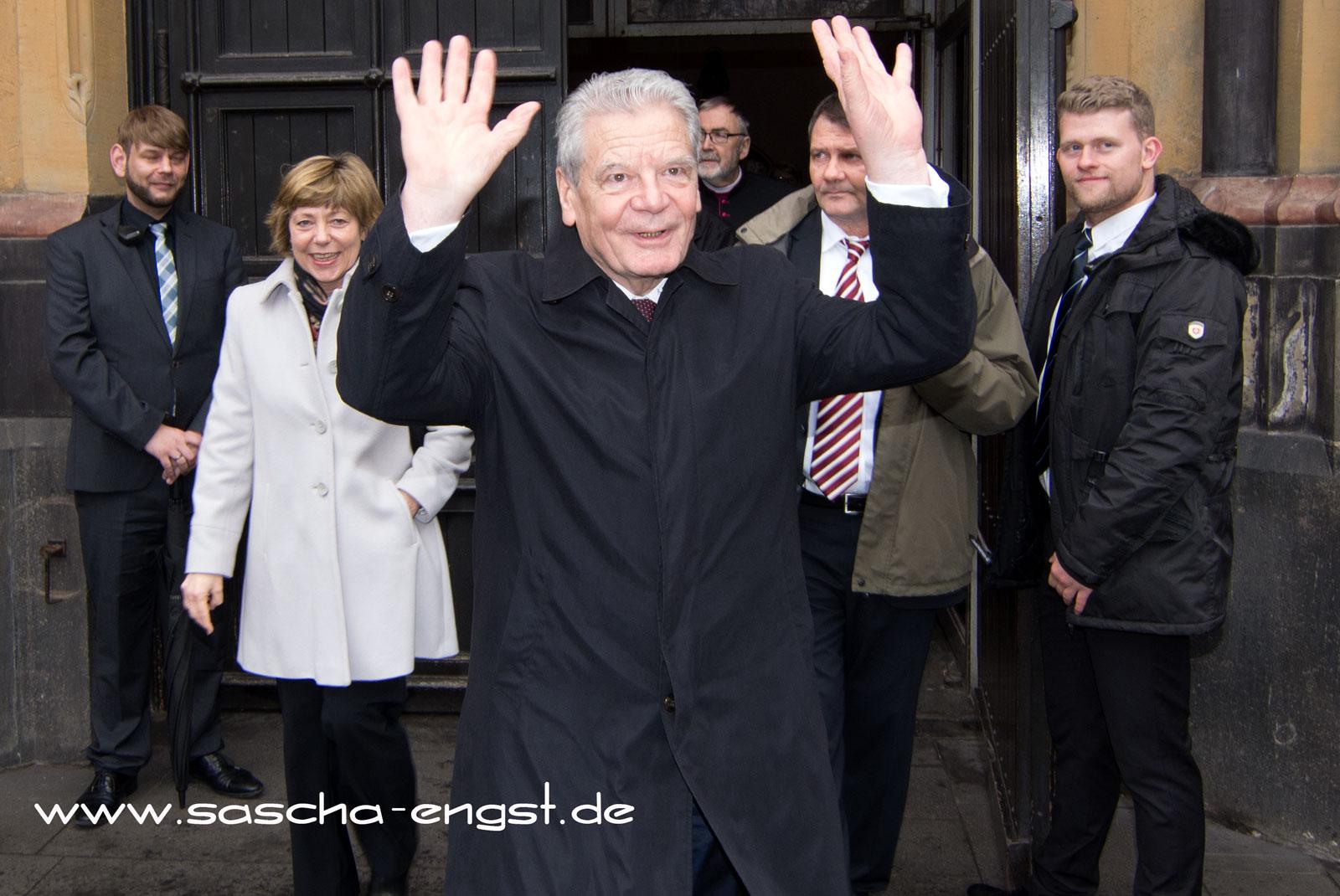 Bundespräsident Joachim Gauck zum Abschiedsbesuch in Bonn.