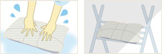 オーダー枕の洗い方