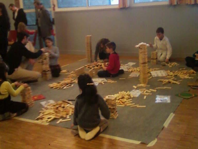 Espace jeu de construction type kapla /  jeux en bois de Boules et Billes